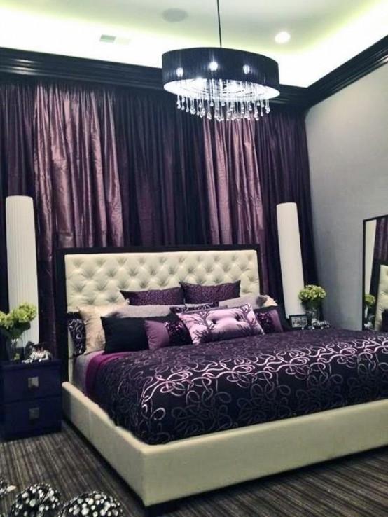 لهن | أحدث ديكورات غرف النوم باللون الأورجوانى